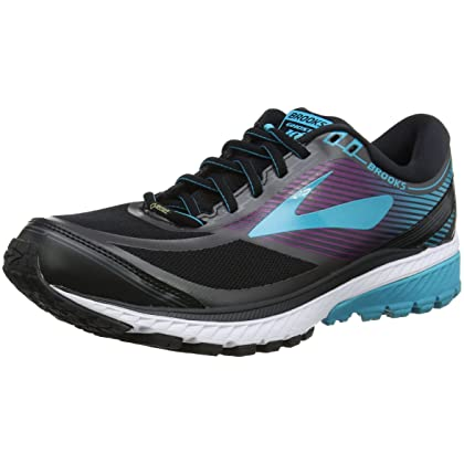 9ba64a0667f Brooks Women s Ghost 10 GTX Black Peacock Blue Hollyhock 9.5 B US