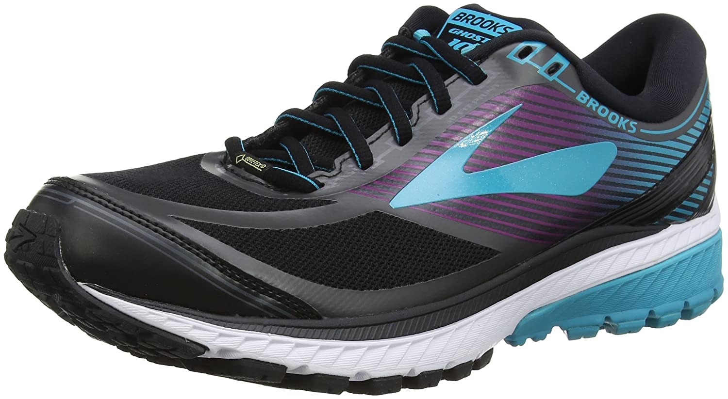 Brooks Womens Ghost 10 GTX B01N8XI1XZ 9.5 B(M) US|Black/Peacock Blue/Hollyhock