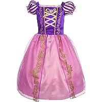 Lito Angels Niñas Disfraces de Princesa Rapunzel Vestidos de Princesa para niña Vestido de Fiesta Elegante Talla 10 años