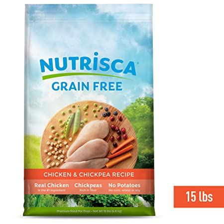 Nutrisca Dog Food, Chicken and Chickpea, 15-Pound Package