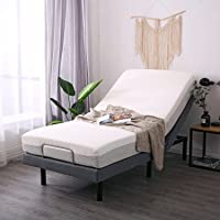 LEISUIT Adjustable Bed Frame with Back & Foot Massage, Wireless Remote Control, Memory Pre-Sets, Dual USB Ports, Nightlight, Zero-Gravity