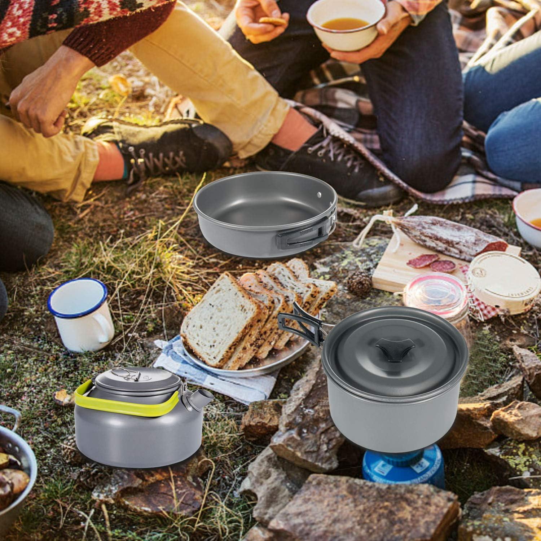 Senderismo Set Cocina Camping para Excursi/ón Acampada Diealles Utensilios Cocina Camping