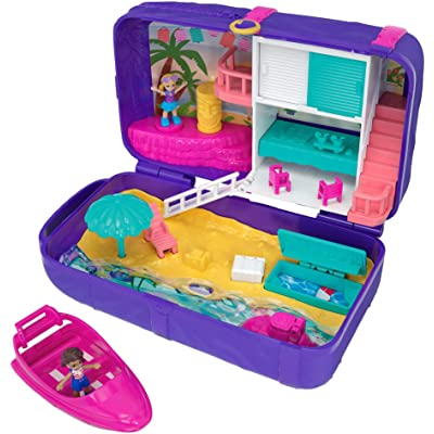 Polly Pocket Hidden in Plain Sight Beach Vibes Backpack, Multicolor: Toys & Games
