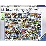 Ravensburger - 16319 - Puzzle Classique - 99 Plus Beaux Endroits Du Monde - 1500 Pièces