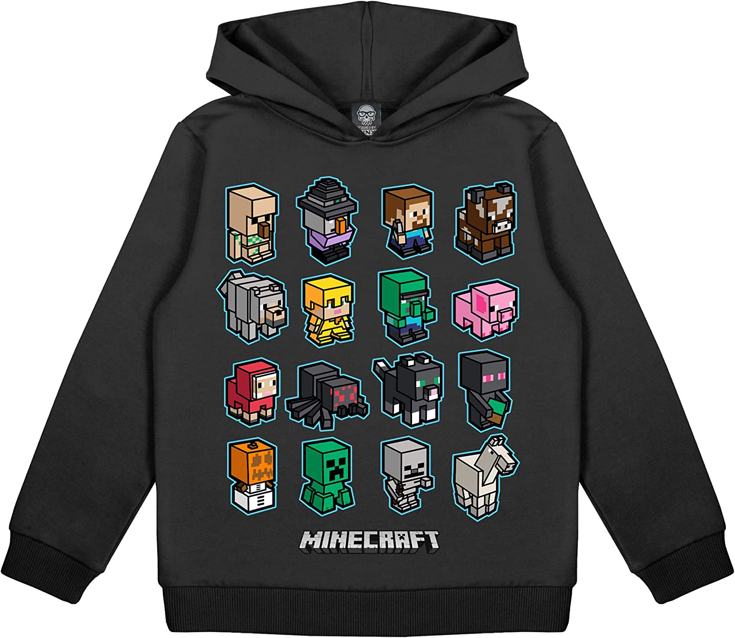 Minecraft Mini Mobs Boys Pullover Hoodie  Official Merchandise  PS10 PS10  Xbox PC Switch Gamer Gifts, Teen School Boys Gaming Hooded Sweatshirt,