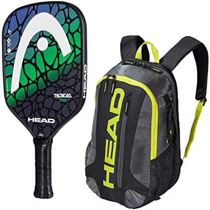 HEAD Radical Pickleball Paddle Starter Kit or Set Bundled with a Black/Neon Yellow Elite Pickleball Backpack (Best for Beginner and Intermediate Players)