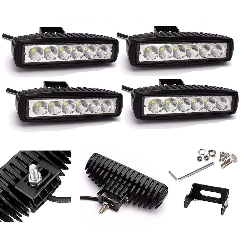 4X HIGH POWER 12V 24V LED 18W WORK LAMP FLOOD LIGHT Bar Slim Spot Beam DRL BUMPER ROOF BAR fog Lamp IP67