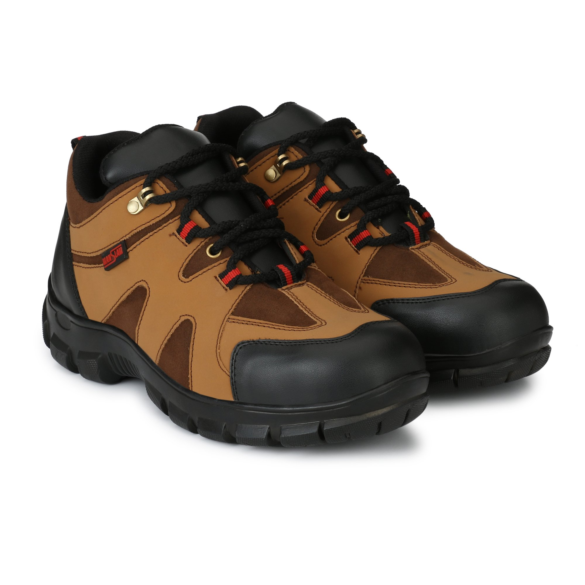 Manslam Synthetic Leather Safety Shoe with Steel Toe (Color - TAN) MLM21 (9) (B07F37QW96) Amazon Price History, Amazon Price Tracker