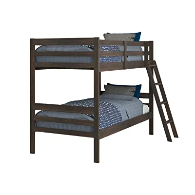 Donco Kids Economy Bunk Bed, Twin/Twin, Rustic Mocha Walnut: Kitchen & Dining