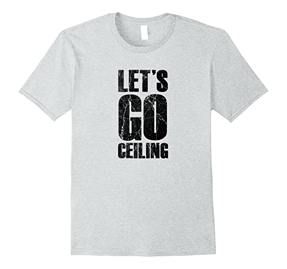 Amazon lets go ceiling ceiling fan halloween costume t shirt mens lets go ceiling ceiling fan halloween costume t shirt 2xl heather grey aloadofball Image collections