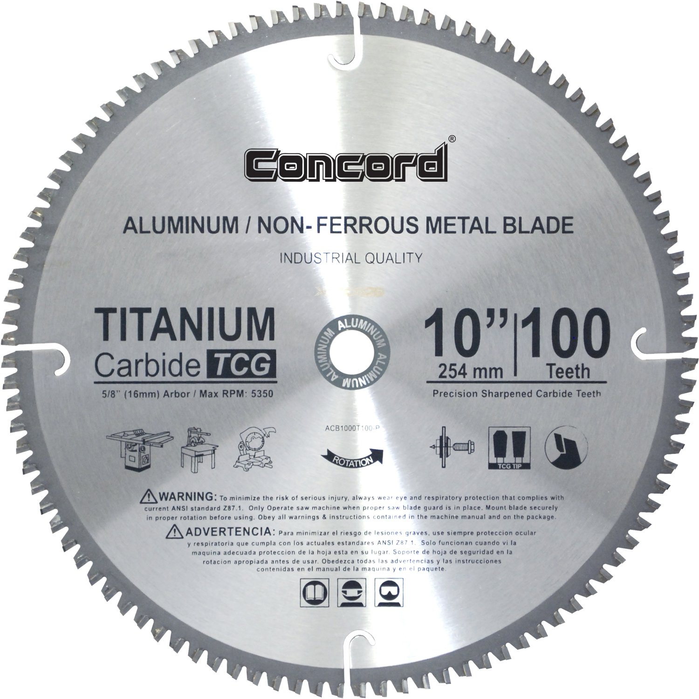 Concord Blades ACB1000T100HP 10-Inch 100 Teeth TCT Non-Ferro