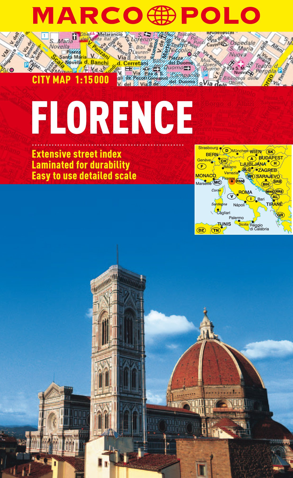Florence City Map Marco Polo City Maps Idioma Inglés: Amazon.es ...