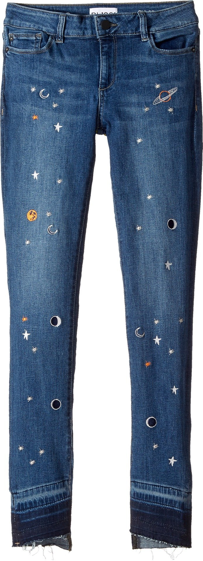 DL1961 Kids Girl's Embroidered Skinny Jeans in Galaxy (Big Kids) Galaxy 16