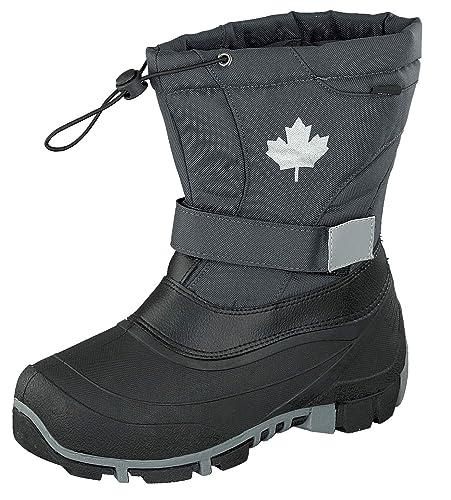 d3bf0dce30069c Indigo Canadians Winter Stiefel Boots 467-185 gefüttert in Dunkelgrau (24)