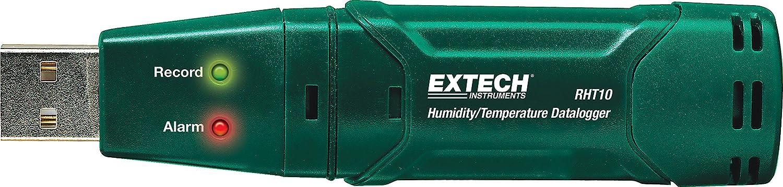 Registrador de datos USB de humedad y temperatura Extech RHT10