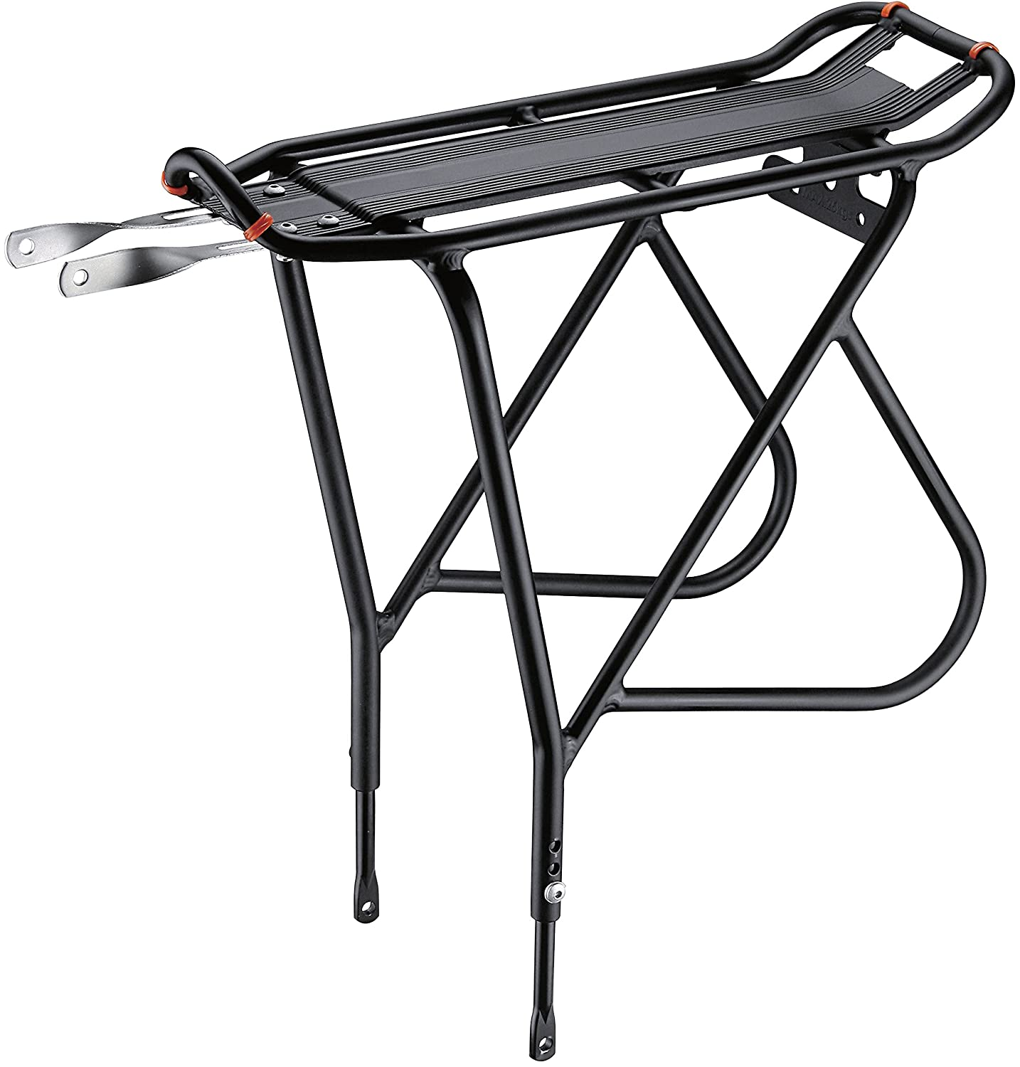 Associated product image for Ibera PakRak Bicycle Touring Carrier Plus, Frame-Mounted for Heavier Top and Side Loads, Height Adjustable, Fender Board, Black