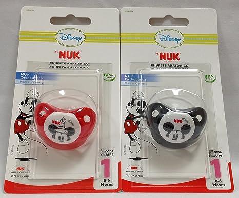 NUK - CHUPETE NUK T-1 SILIC MICKEY: Amazon.es: Bebé