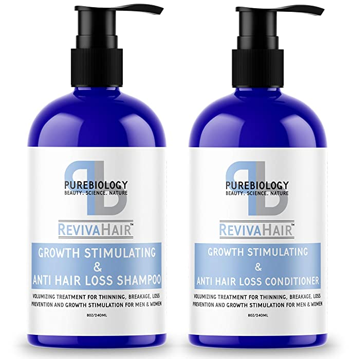 Pure Biology Shampoo & Conditioner with Biotin for Hair Growth