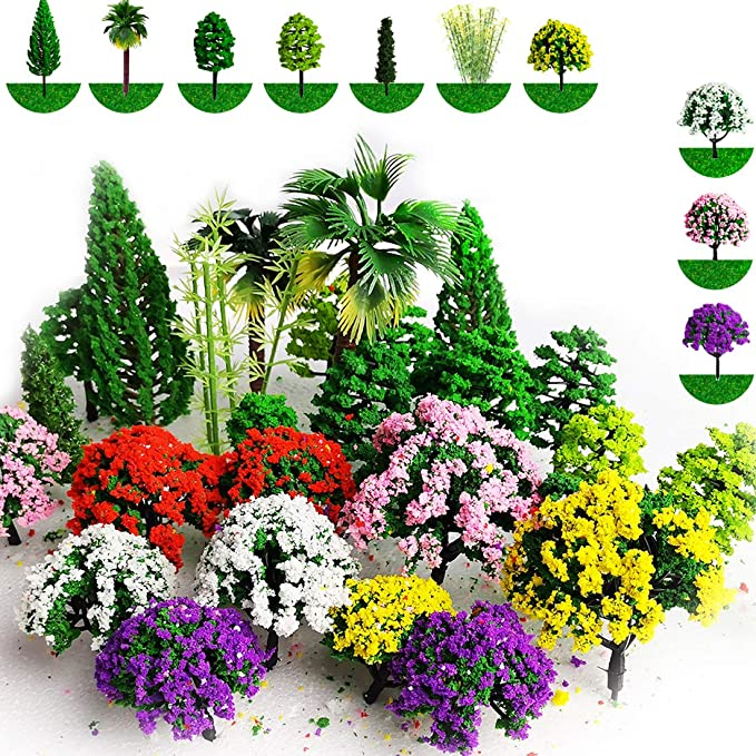 1:100 Artificial Tree Architecture 3.5cm//1.38/'/' Plastic New 2108 High Quality