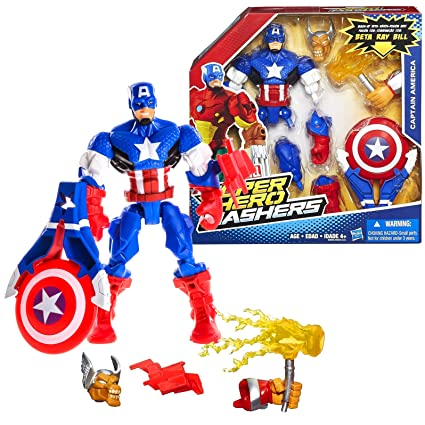 Amazon.com: Hasbro Año 2015 Marvel Super Hero mashers Serie ...
