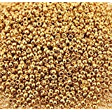 Miyuki Round Seed Bead Size 15/0 8.2g-tube Galvanized Gold