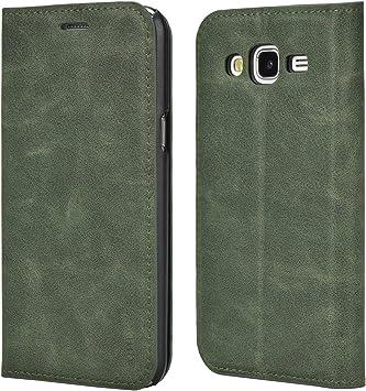 Mulbess Funda Samsung Galaxy J5 2015 [Libro Caso Cubierta] Slim de Billetera Cuero Carcasa para Samsung Galaxy J5 2015 Case, Verde: Amazon.es: Electrónica