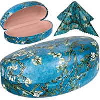 PG6 FF1 Oversized Hard Shell Sunglasses Case, Durable Protective Holder for Extra Large Reading Glasses