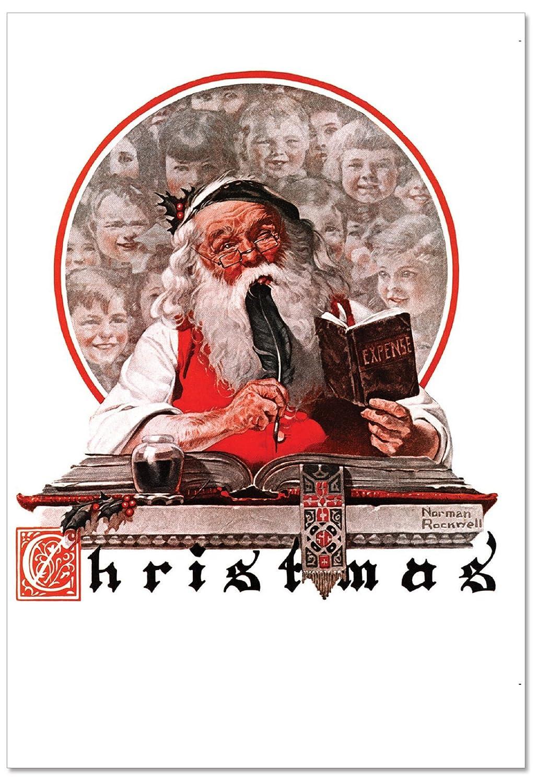Amazon.com : B6036AXSG Box Set of 12 Rockwell Holidays Christmas ...