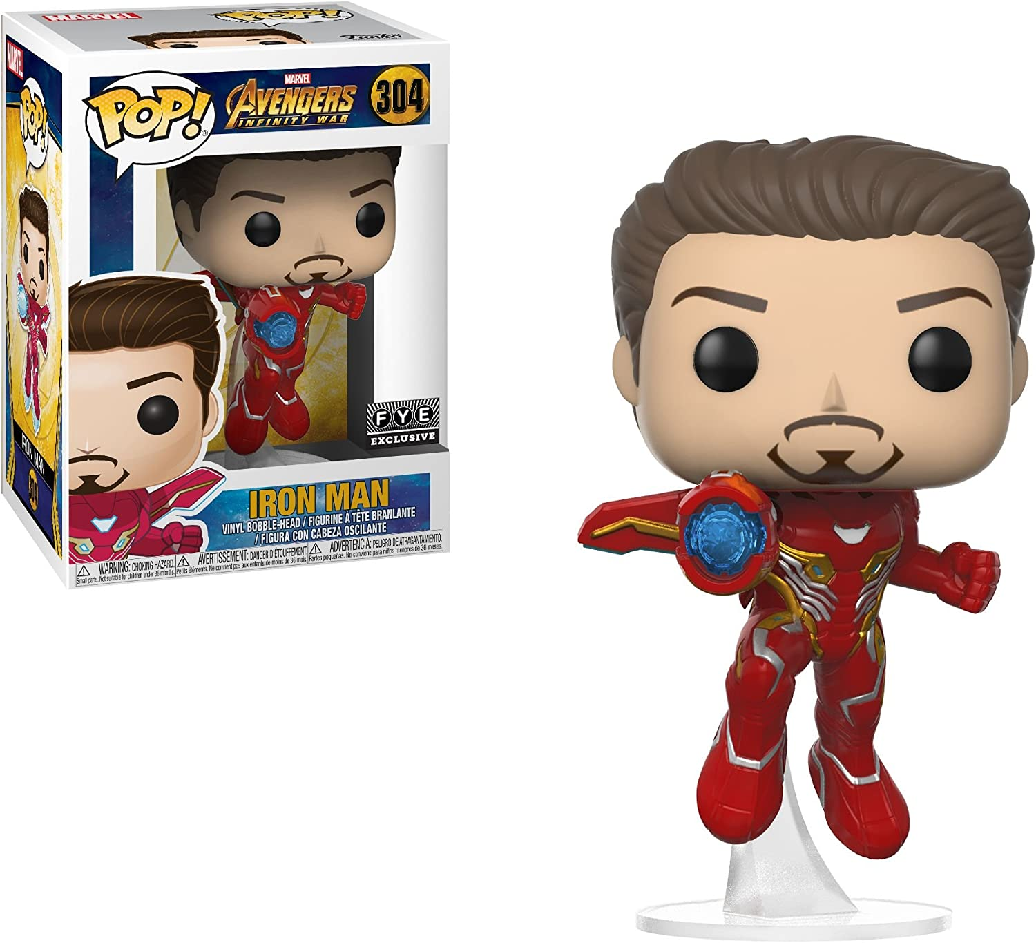 Pop Marvel Avengers Infinity War Vinyl Bobble Head Iron Man Unmasked 304 Fye Exclusive Figures Amazon Canada