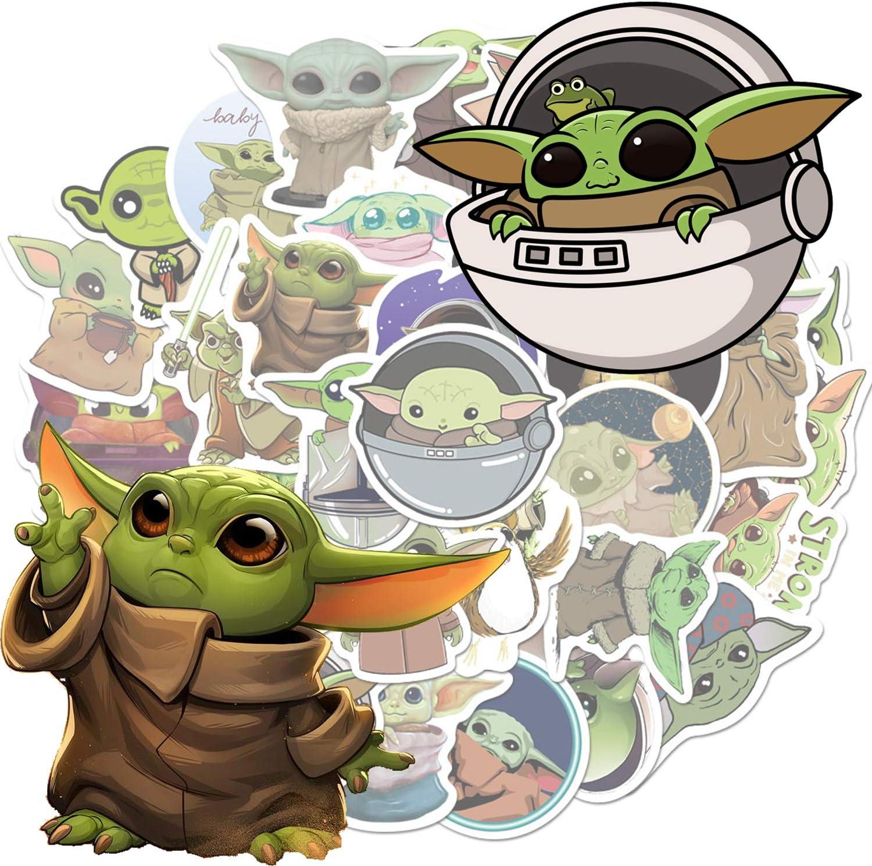Erwachsene Aufkleber f/ür Film Star Wars The Mandalorian AnvFlik Aufkleber Baby Yoda 50 St/ück Computer Trendige Vinyl-Aufkleber f/ür Laptops Teenager Wasserflaschen Coole Hydroflaschen
