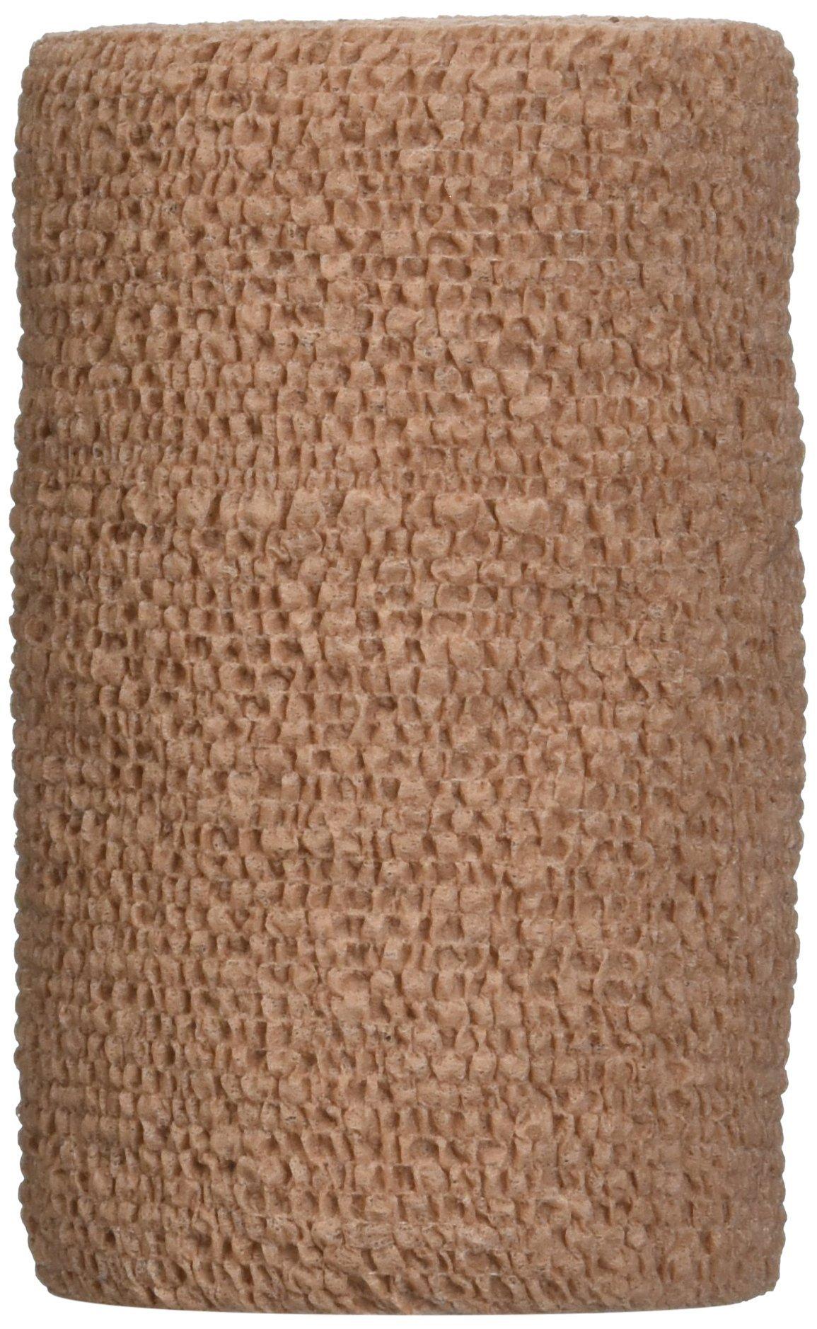 3M Health Care 1584 Coban Self-Adherent Wrap, Elastic, 5 yd. L x 4'' W, Tan (Pack of 18) by 3M Health Care