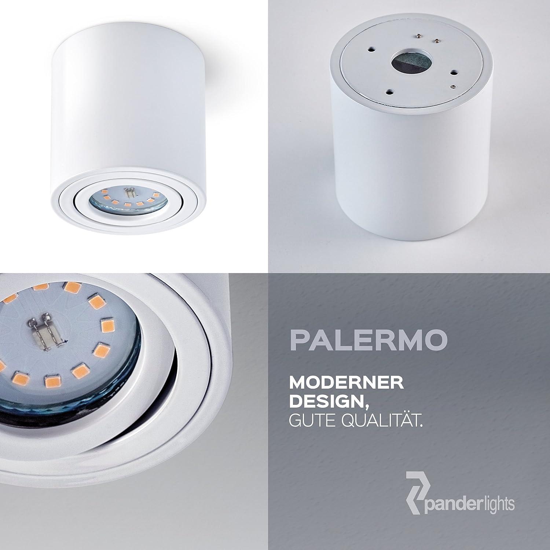 color blanco c/álido regulable sin bombilla Foco empotrable de techo Palermo 5,5 W