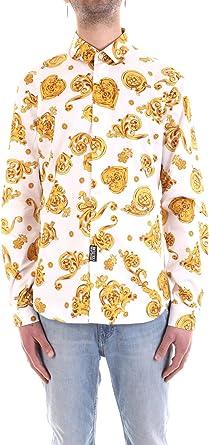 Versace Jeans B1GVB6S2S0771003 Camisa Hombre Blanco M: Amazon.es: Ropa y accesorios