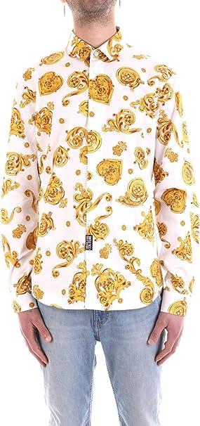 Versace Jeans B1GVB6S2S0771003 Camisa Hombre Blanco M: Amazon ...