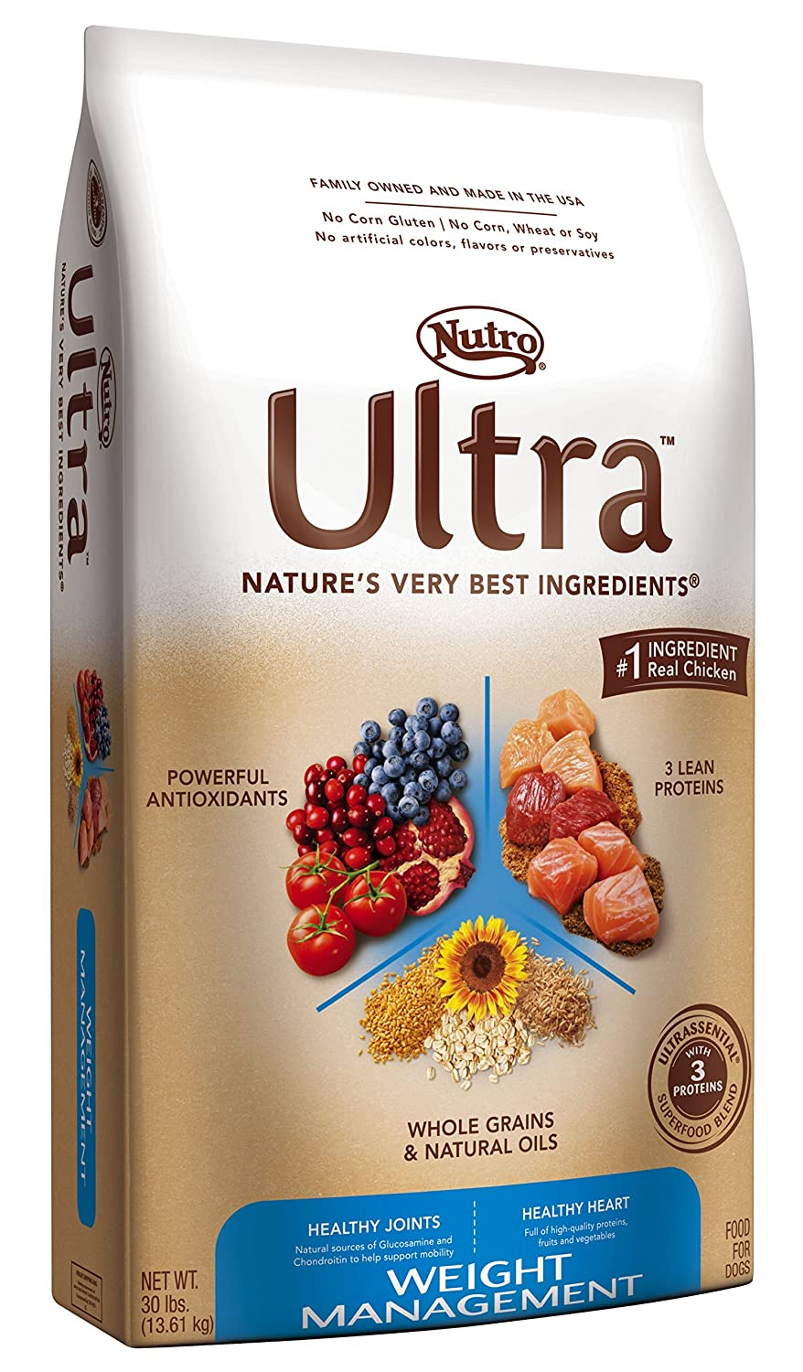 Amazoncom Nutro Ultra Weight Management Dry Dog Food 30lb Pet
