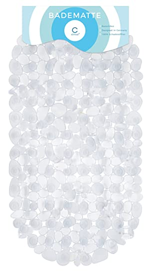 Circul Badewannenmatte 68 x 35 cm blau Steinoptik modern