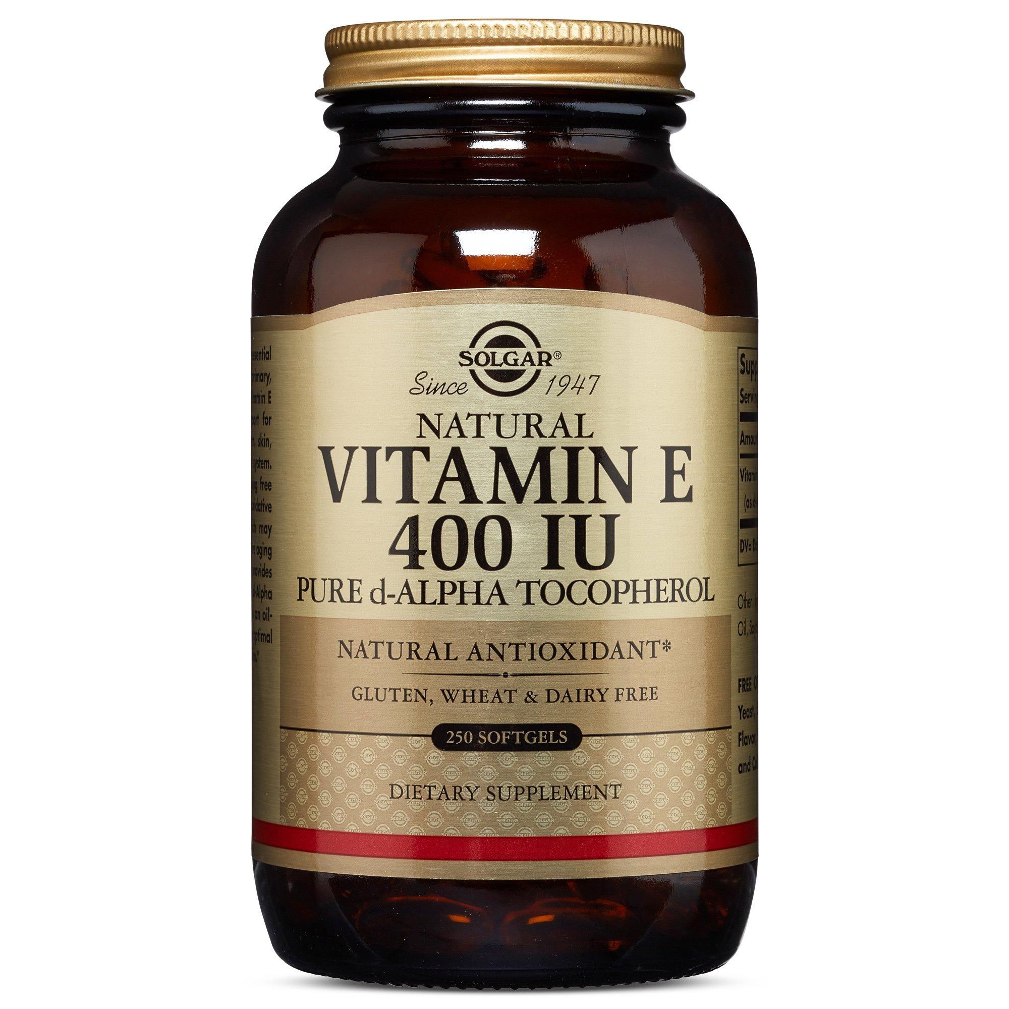 Solgar - Vitamin E 400 IU Alpha, 250 Softgels