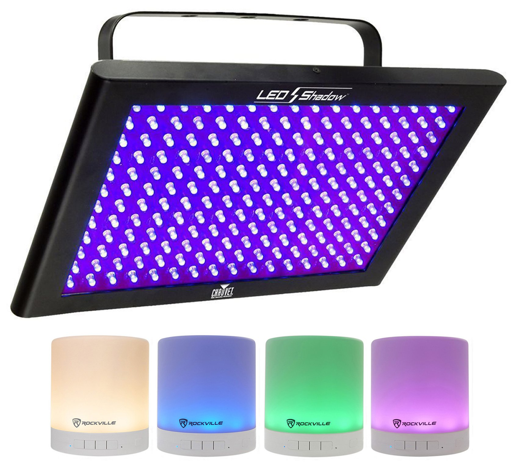Chauvet DJ LED SHADOW / Club DMX 512 3 CH. Blacklight Panel LEDSHADOW + Speaker
