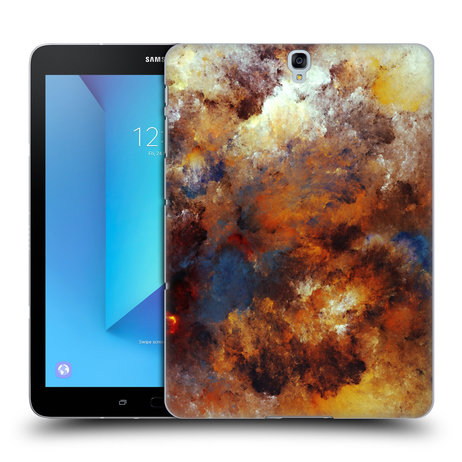 Official Andi GreyScale Chaotic Imagination Solar Flames Hard Back Case for Samsung Galaxy Tab S3 9.7