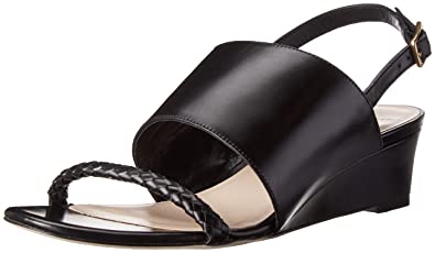 Cole Haan Women's Lise Wedge,Black Leather,6 ...