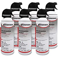 Innovera 10016 Compressed Air Duster Cleaner, 10 oz Can, 6/Pack