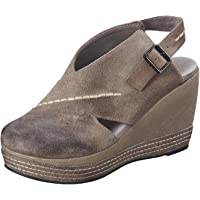 Antelope Women's 836 Suede Cutout Sling Wedge