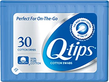 30-Count Q-tips Blue Purse Pack Cotton Swabs