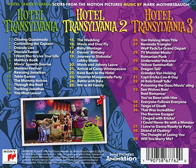 Hotel Transylvania Score From The Motion Pictures Amazoncouk Music