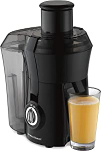 "Hamilton Beach Juicer Machine, Big Mouth 3"" Feed Chute, Centrifugal, Easy to Clean, BPA Free, 800W, (67601A), Black"
