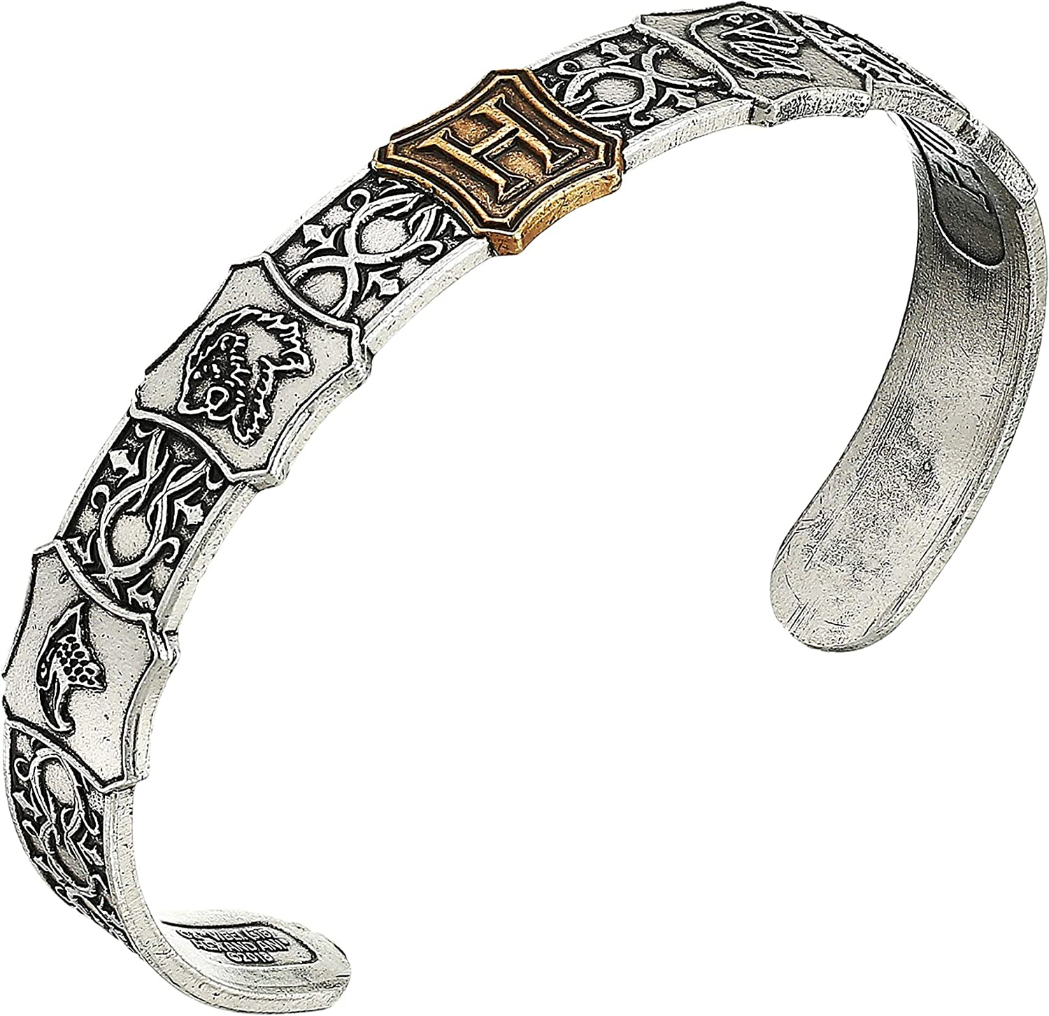 Alex and Ani Harry Potter Hogwarts is My Home Mens Cuff Two-Tone