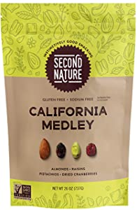 Second Nature California Medley Trail Mix - Healthy Nuts Snack - Gluten Free, 26 oz Resealable Pouch