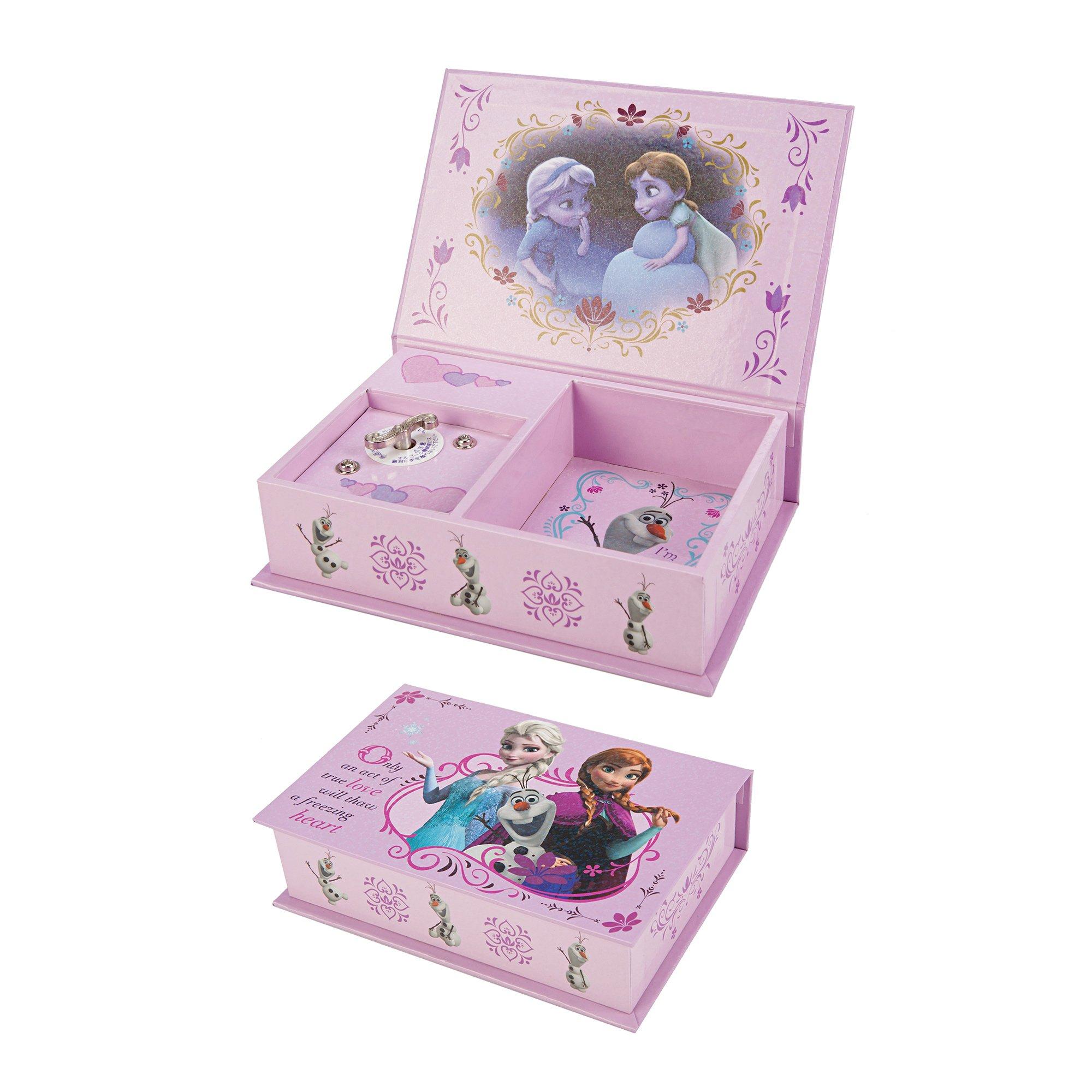 Disney Frozen Anna, Elsa, & Olaf Pink Music Box