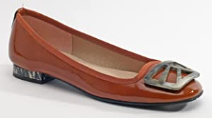 French Sole Women's Talisma Brick Patent Flat 10B