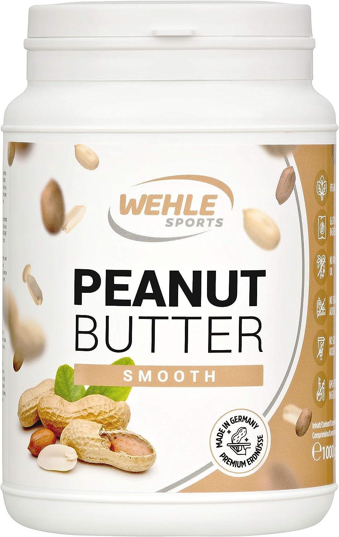 Burro di arachidi Burro di arachidi naturale Burro di arachidi naturale Senza additivi. Burro di arachidi senza sale, zucchero, olio di palma - Wehle Sports (Smooth, 1 KG)